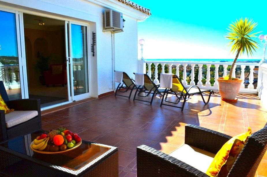 Villa Los Arcos master bedroom terrace